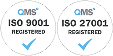ISO 27001 & 9001 accreditation icons